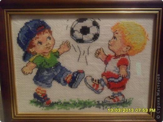 Вышивка крестом Футболисты