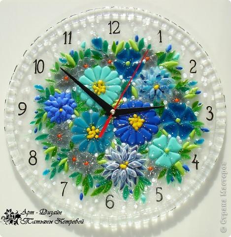 Цветы как сделать часы