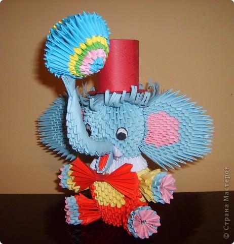 Модульное оригами слона