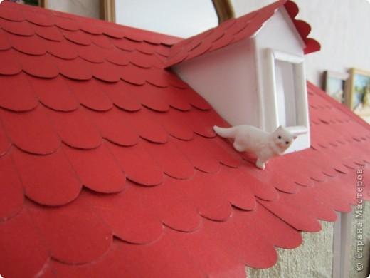 Как сделать крышу на домике из бумаги