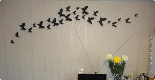Бабочки крепятся английскими булавками) .