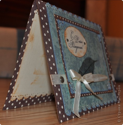 Очередные открыточки... Делалась для мужчины... фото 3