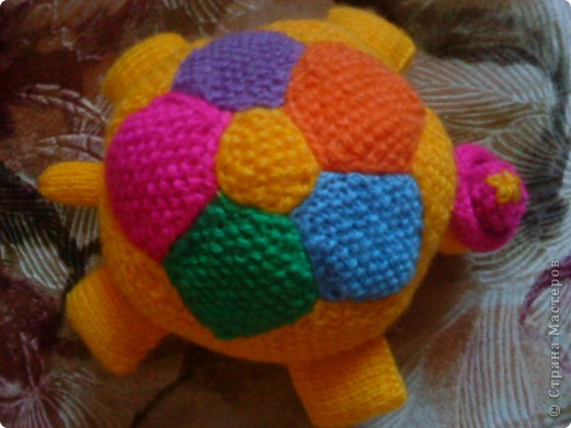 Вязание спицами Черепаха