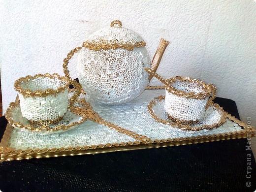 Как сделать чайный сервиз из макарон пошагово с