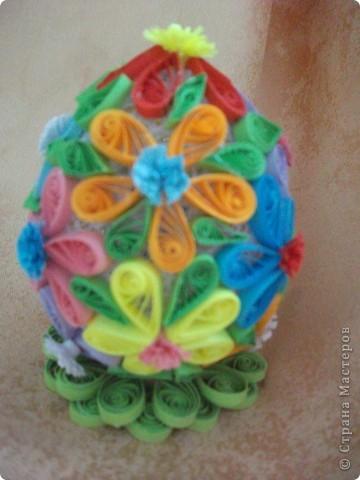 """Пасхальное яичко. Делала с вдохновением! У сестры в детском садике проводился конкурс - """"Пасхальное яичко"""". Я решила принять в нем участие. Надеюсь, что займу какое-нибудь место."""