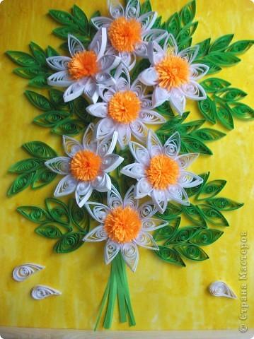 """Моя картина с ромашками. Мне очень сильно нравятся цветы """"ромашки"""". Я просто обожаю их."""