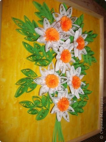 """Моя картина с ромашками. Мне очень сильно нравятся цветы """"ромашки"""". Я просто обожаю их.  фото 3"""