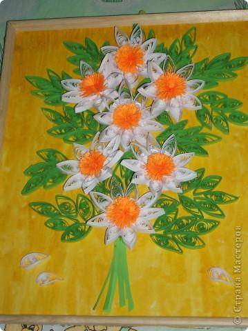 """Моя картина с ромашками. Мне очень сильно нравятся цветы """"ромашки"""". Я просто обожаю их.  фото 4"""