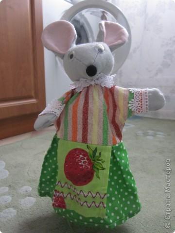 Мышка кукла на руку