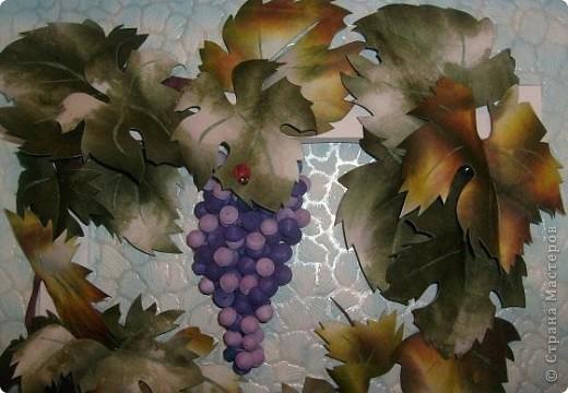 Почти копия предыдущего винограда- так захотел сын, которому и делалась в подарок картина фото 3