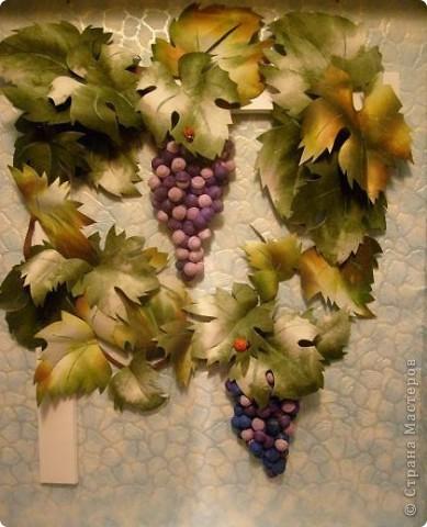 Почти копия предыдущего винограда- так захотел сын, которому и делалась в подарок картина фото 2