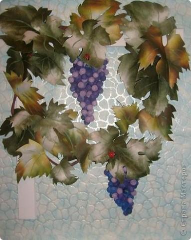 Почти копия предыдущего винограда- так захотел сын, которому и делалась в подарок картина фото 1