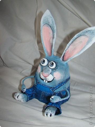 Игрушка Пасха Папье-маше Кролик Коля мастер-класс Бумага Клей Проволока Скотч Стаканы