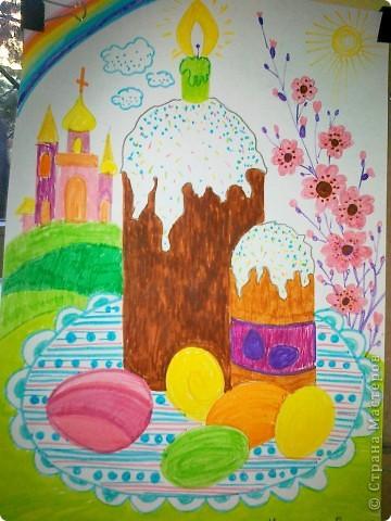 пасхальные рисунки детей: