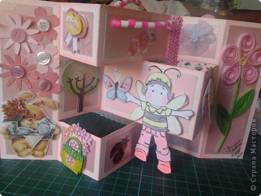 открытка в сложенном виде и коробочка для неё... для девочки 8 лет))) фото 2