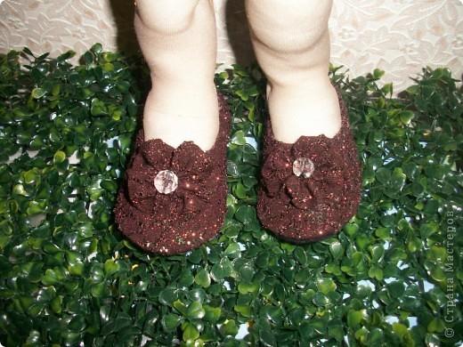 Вот придумались такие туфельки для моей золушки. Спешу поделиться с Вами. фото 1