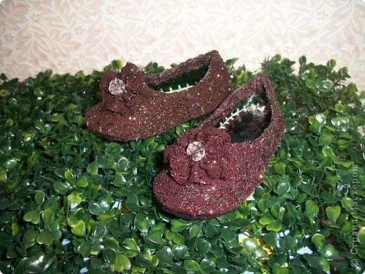 Вот придумались такие туфельки для моей золушки. Спешу поделиться с Вами. фото 12