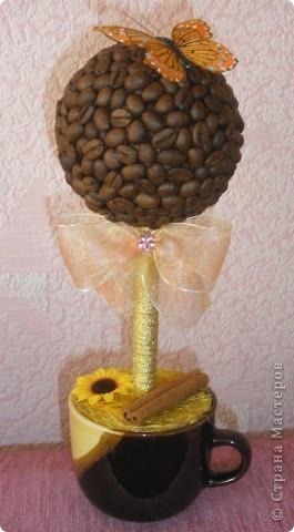 """И меня настигла """"кофемания"""" в смысле деревьев! Этот делала на заказ (для кухни в зелено-желтом цвете), покупательница была в восторге, что меня очень порадовало (т.к. я начинающий в плане работ на заказ!) фото 13"""