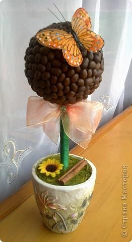 """И меня настигла """"кофемания"""" в смысле деревьев! Этот делала на заказ (для кухни в зелено-желтом цвете), покупательница была в восторге, что меня очень порадовало (т.к. я начинающий в плане работ на заказ!) фото 1"""