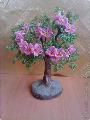 Бисероплетение - Цветущее дерево-15 из бисера.