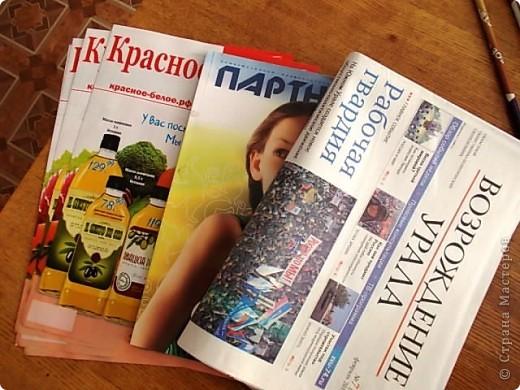Мастер-класс Поделка изделие Плетение Бамбуковая ваза из газетных трубок Бумага газетная фото 2
