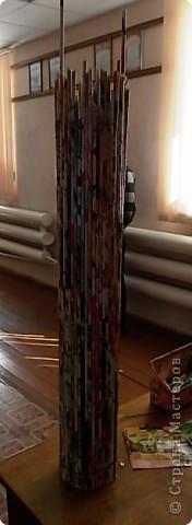 Из всего что мне приходилось делать, из газетных трубочек, подобные вазы самые легкие. Почему подобные, расскажу в конце МК. фото 13