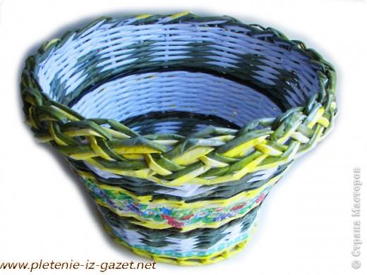 http://pletenie-iz-gazet.net Виды плетения (узоры) из газетных трубочек