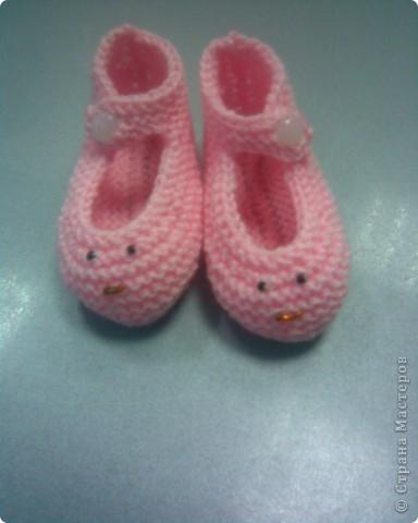 Туфельки Спицами
