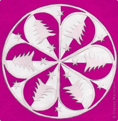 Картина панно рисунок Вырезание Елочки-мандалы Бумага фото 6.