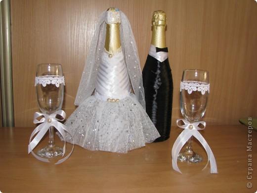 Оформление бутылок на свадьбу своими руками видео
