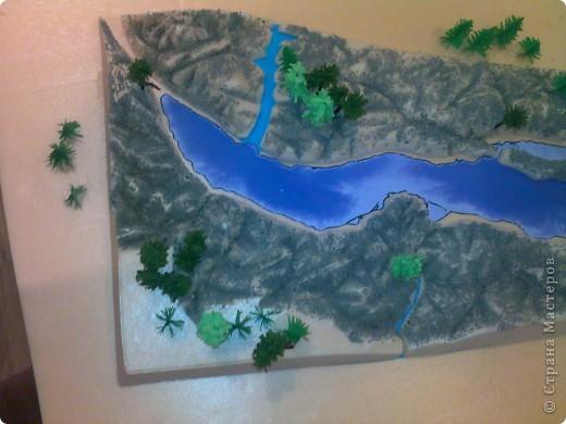 Как сделать макет озера байкал своими руками 61