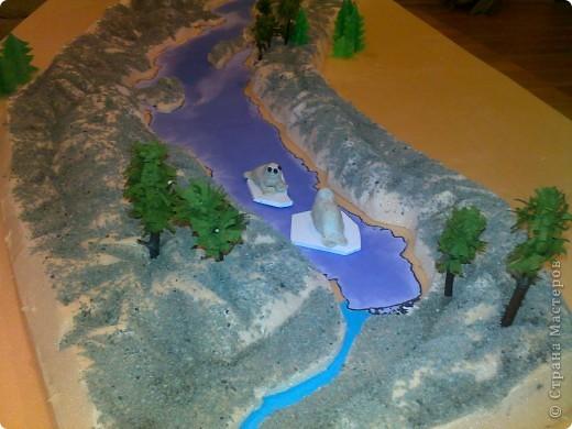 Макет озеро своими руками