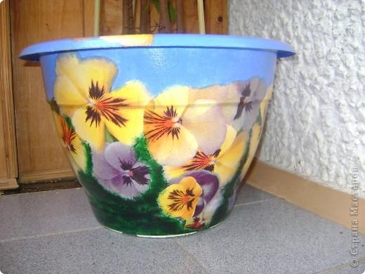 пришла весна, пора пересаживать цветы, вот такие горшки у меня получились. №1. фото 1