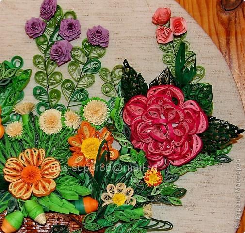 Корзина с цветами фото 3