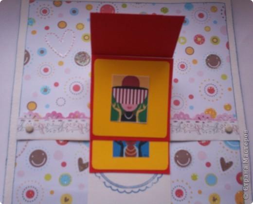 Увидела эту форму открыток и решила сделать. Спасибо Лена-Лена за ссылку.http://scrapmania.moy.su/forum/32-371-1 фото 3