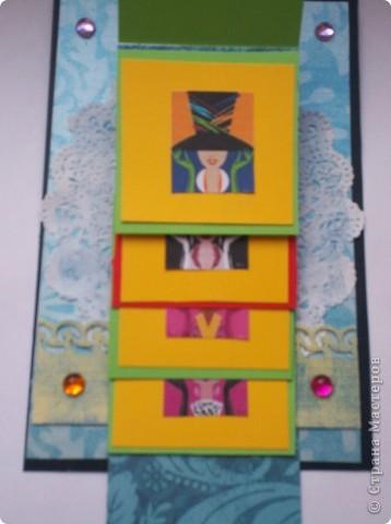 Увидела эту форму открыток и решила сделать. Спасибо Лена-Лена за ссылку.http://scrapmania.moy.su/forum/32-371-1 фото 9