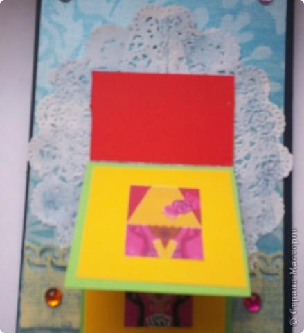 Увидела эту форму открыток и решила сделать. Спасибо Лена-Лена за ссылку.http://scrapmania.moy.su/forum/32-371-1 фото 13