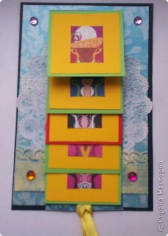 Увидела эту форму открыток и решила сделать. Спасибо Лена-Лена за ссылку.http://scrapmania.moy.su/forum/32-371-1 фото 14