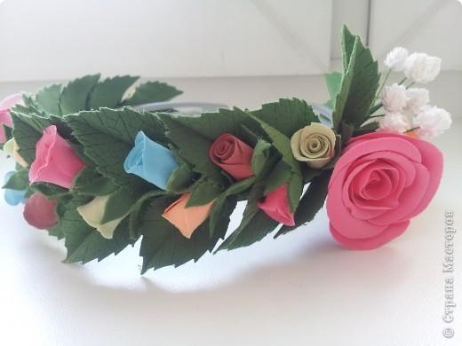 Венок из роз фото 4