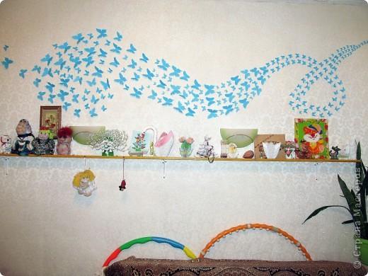 Декорация стены Бабочками