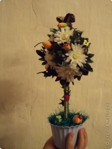 Очень хотелось фруктовое дерево!!!!! Получилось яблочно-грушевое с ромашками!!!! фото 1