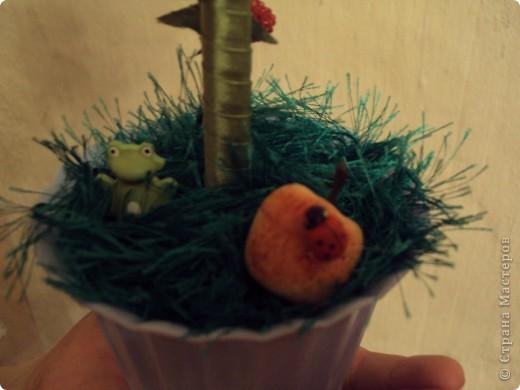 Очень хотелось фруктовое дерево!!!!! Получилось яблочно-грушевое с ромашками!!!! фото 3