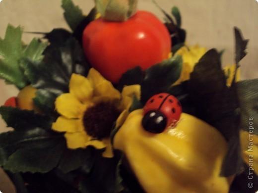 Очень хотелось фруктовое дерево!!!!! Получилось яблочно-грушевое с ромашками!!!! фото 6
