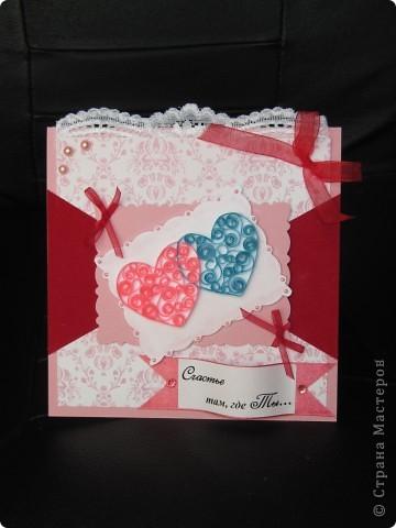 Вот она, моя красавица!))Сделала ее довольно быстро и с удовольствием)) Первый раз использовала бархатную бумагу (ярко-красного цвета) - очень понравилось. фото 1
