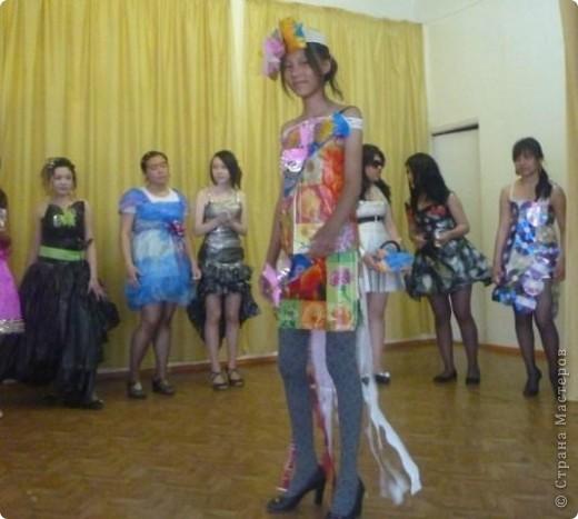 """В нашей школе было проведено внеклассное мероприятие по технологии: """"Театр моды из нетрадиционных материалов"""" фото 21"""