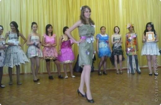 """В нашей школе было проведено внеклассное мероприятие по технологии: """"Театр моды из нетрадиционных материалов"""" фото 12"""