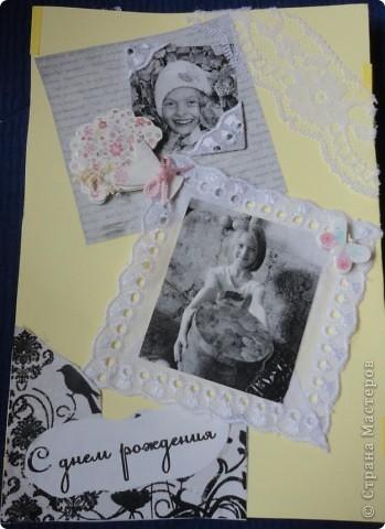 Для лучшей подружки Верники были сделаны вот такие подарки. Открытку и рамочку для фотографии Вероника делала сама, ну а от меня подарком была кукла в свит-дизайне. фото 5