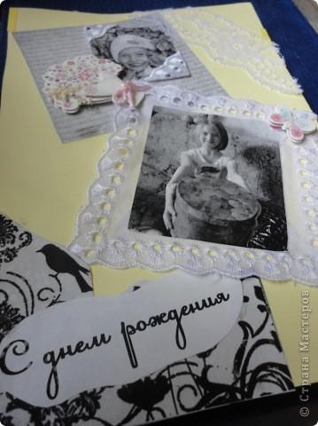 Для лучшей подружки Верники были сделаны вот такие подарки. Открытку и рамочку для фотографии Вероника делала сама, ну а от меня подарком была кукла в свит-дизайне. фото 6