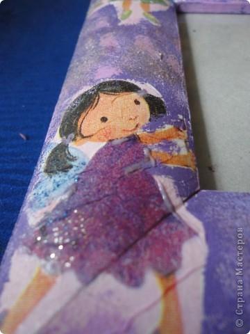 Для лучшей подружки Верники были сделаны вот такие подарки. Открытку и рамочку для фотографии Вероника делала сама, ну а от меня подарком была кукла в свит-дизайне. фото 3