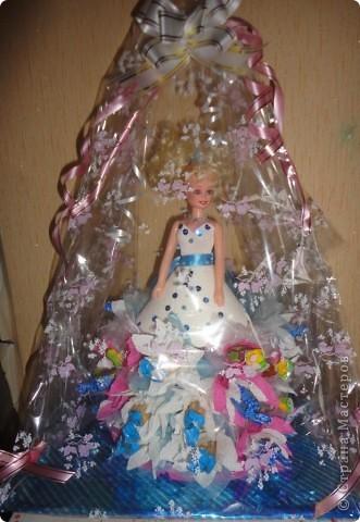 Для лучшей подружки Верники были сделаны вот такие подарки. Открытку и рамочку для фотографии Вероника делала сама, ну а от меня подарком была кукла в свит-дизайне. фото 13